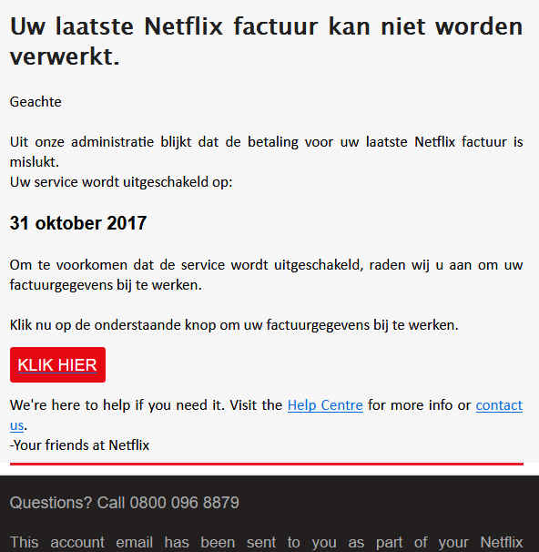 netflix valse mail